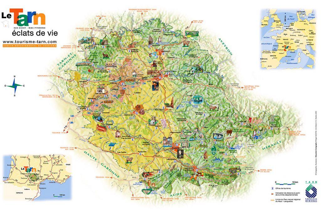 Carte touristique du Tarn