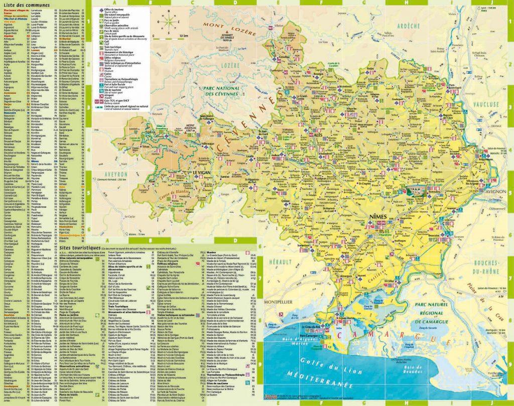 Carte touristique du Gard, CDT Tarn
